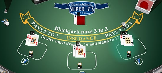 Blackjack Super 7 S Multi Hand Isoftbet