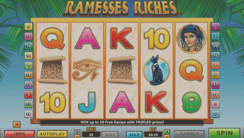 ramesses riches gratis ecran