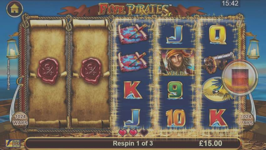 ecran five pirates gratis